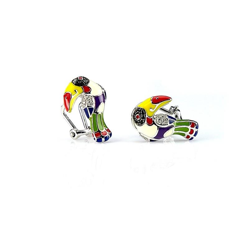 Boucles d'oreilles Una Storia Toucan argent 925/000 BO12144