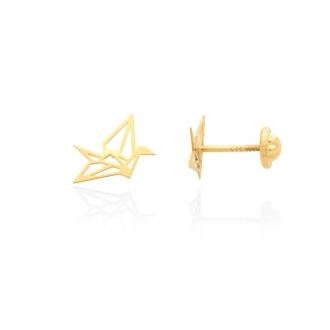 Boucles d'oreilles Carador origami or jaune 375/000