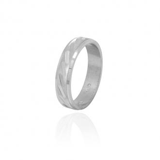 Bague femme Carador anneau ciselage barrette argent 925/000