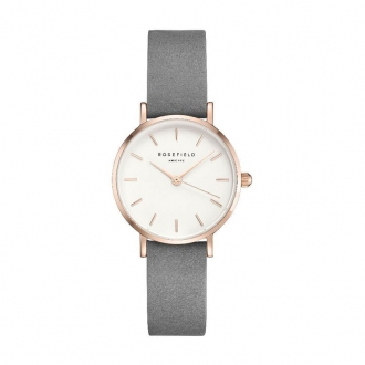 Montre femme Rosefield The Small Edit gris éléphant 26WGR-264
