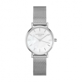 Montre femme Rosefield The Small Edit milanaise argentée 26WS-266