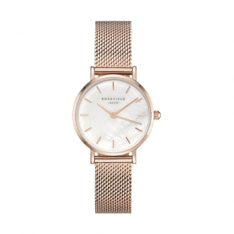 Montre femme Rosefield The Small Edit milanaise plaqué or rose 26WR-265