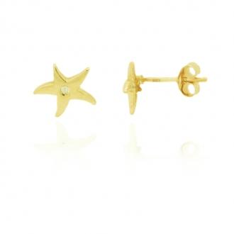Boucle Carador étoile Or jaune 375/000e