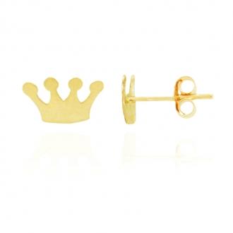Boucle Carador couronne Or jaune 375/000e