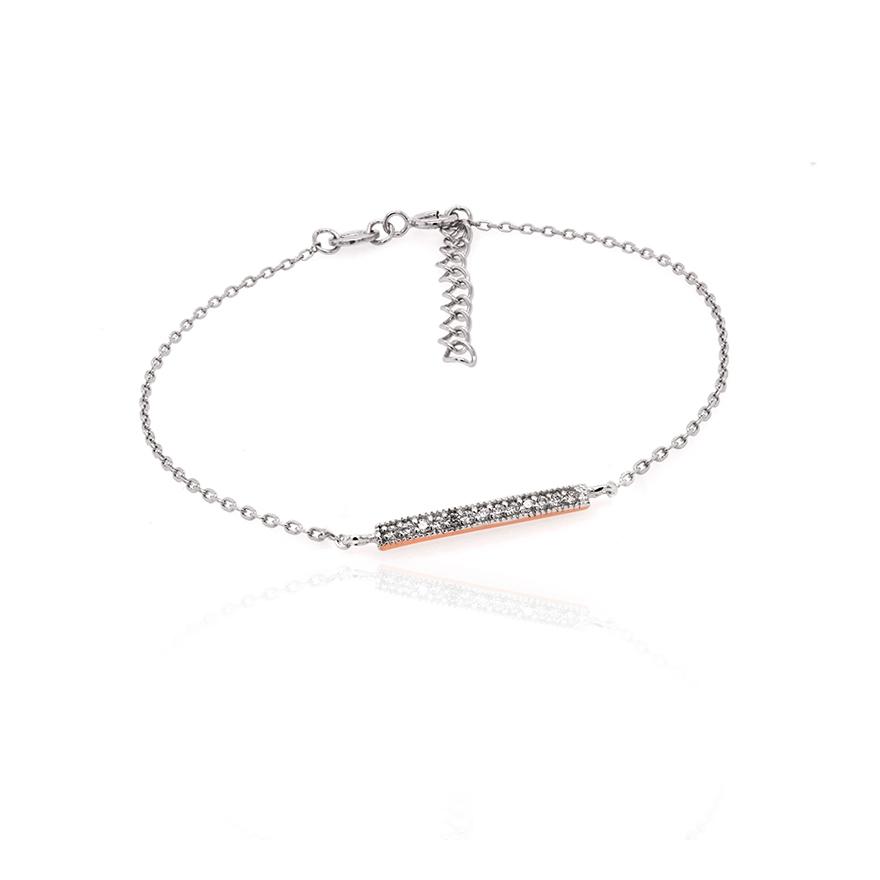 De Et Zirconium Silver Pop Argent Souple 925000 Blanc Rose Bracelet Barrette Oxydes 3LqRc5jSA4