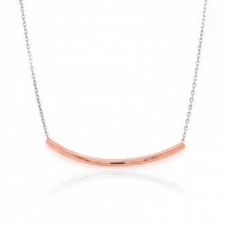 Collier Silver Pop tube argent 925/000 blanc et rose