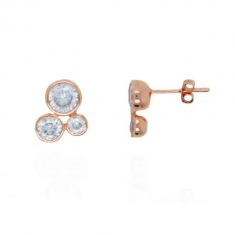 Boucles d'oreilles Silver Pop 3 sphères argent 925/000e