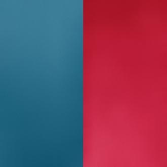 Vinyle pour boucles d'oreilles demi lune Les Georgettes Bleu pétrole/Framboise 703218384M7000