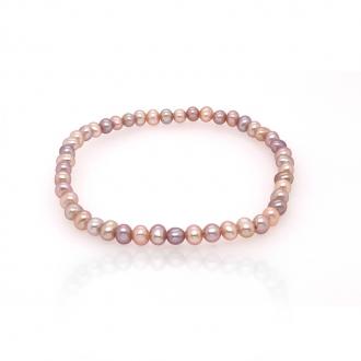 Bracelet élastique Carador perles de culture d'eau douce multi 3,5-4 mm