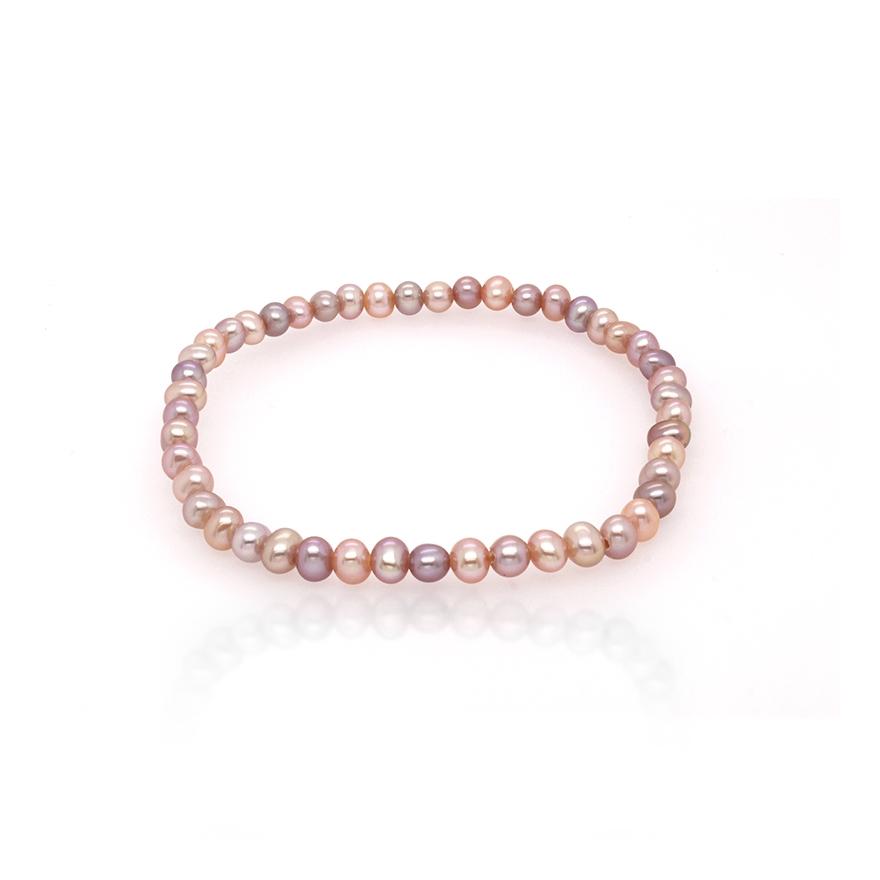 bracelet lastique carador perles de culture d 39 eau douce multi 3 5 4 mm. Black Bedroom Furniture Sets. Home Design Ideas