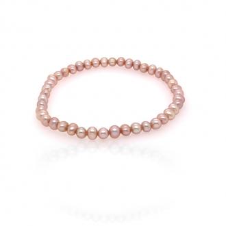 Bracelet élastique Carador perles de culture d'eau douce pêche 3,5-4 mm