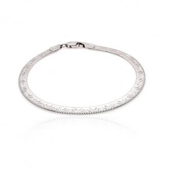 Bracelet femme Carador maille fantaisie argent 925/000 4 mm