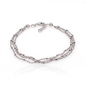 Bracelet femme Carador fantaisie multi-rang argent 925/000