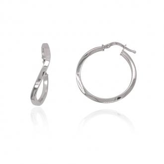 Boucles d'oreilles créoles Carador argent 925/000 25 mm