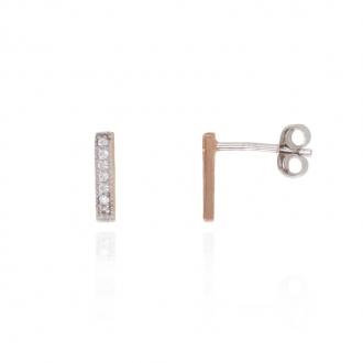 Boucles d'oreilles Silver Pop ornées d'oxydes Argent 925/000