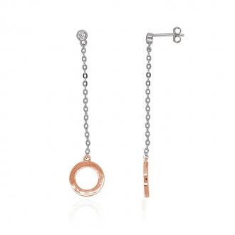 Boucles d'oreilles Carador pendantes cercle Argent 925/000e Oxydes de zirconium
