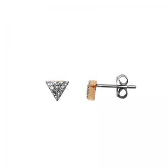 Boucles d'oreilles Silver Pop Triangle Argent 925/000
