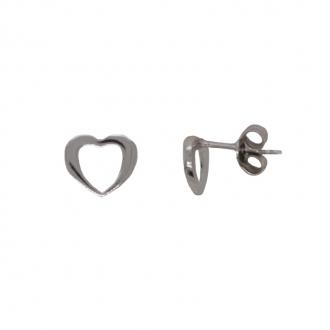 Boucles d'oreilles Carador Argent 925/000 coeur