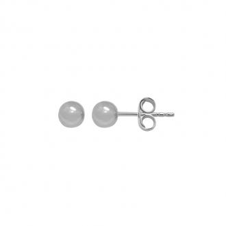 Boucles d'oreilles Carador boules 5 mm en or blanc 375/000
