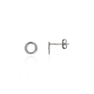 Boucles d'oreilles Géométrique Carador cercle argent 925/000