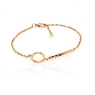 Bracelet Carador géométrique plaqué or 32EV0450