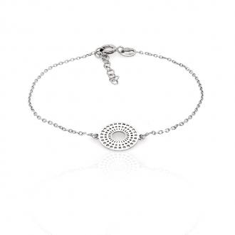 Bracelet femme Carador cercle dentelle graphique en argent 925/000