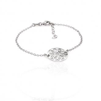 Bracelet femme Carador rosace dentelle en argent 925/000