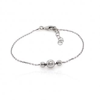 Bracelet femme Carador trio de perles argent 925/000