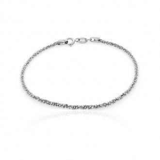 Bracelet femme Carador maille fantaisie argent 925/000