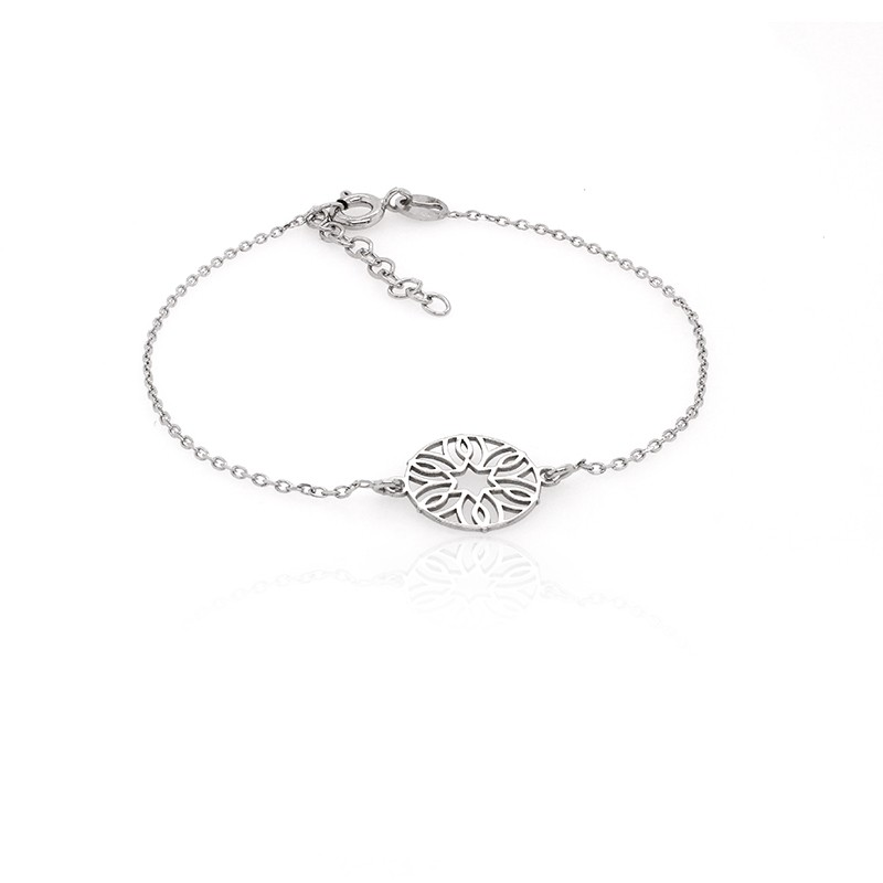 Bracelet femme Carador fleur dentelle en argent 925/000
