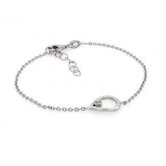 Bracelet femme Carador motif goutte en argent 925/000 et oxyde de zirconium