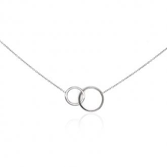 Collier Femme Carador anneaux enlacés argent 925/000
