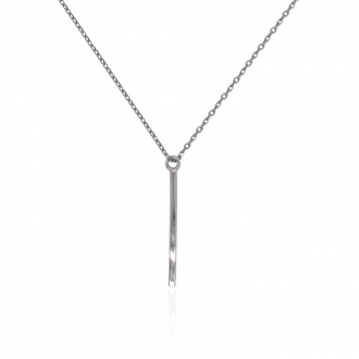 Collier Femme Carador baton minimaliste argent 925/000
