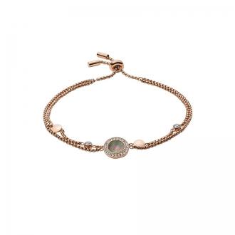 Bracelet Fossil Doré rose et nacre