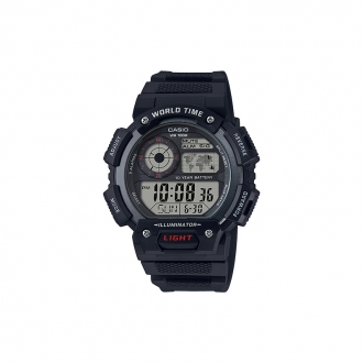 Montre Casio world time cadran noir
