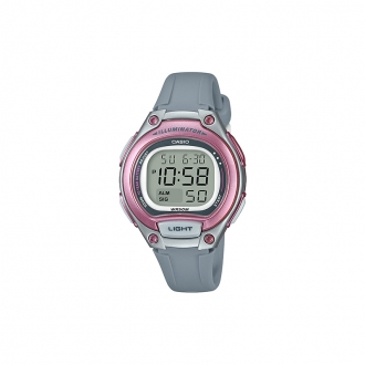 Montre Casio illuminator rose et grise