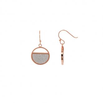 Boucles d'oreilles Amporelle Doré rose & Glitter