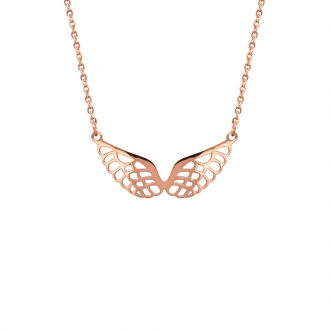 Collier Amporelle ailes d'ange dore rose NST1749RG