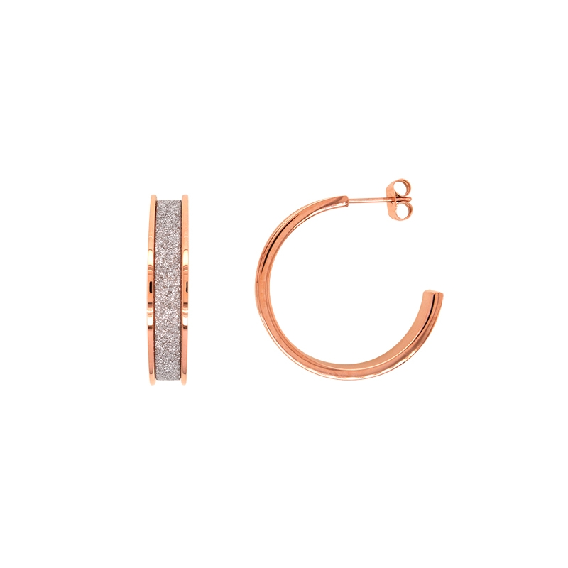 Boucles d'oreilles Amporelle fashion doré rose