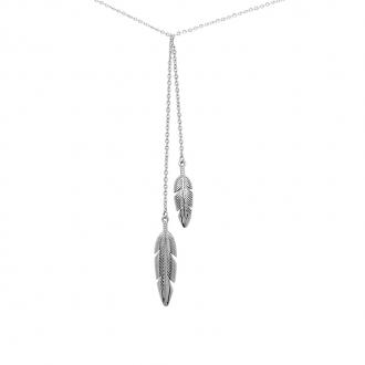 Collier Amporelle à doubles formes plumes