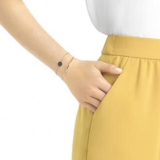 Bracelet Swarovski Ginger gris doré rose 5389046
