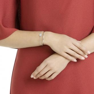 Bracelet Swarovski Ginger blanc, métal argenté 5389044