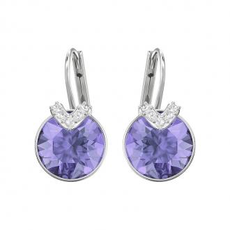 Boucles d'oreilles Swarovski Bella V argentées et cristal mauve 5389358