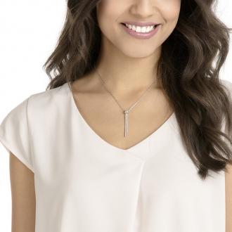 Collier Swarovski pendentif en Y Lifelong argenté 5408435