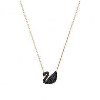 Collier Femme Swarovski Iconic Swan noir doré rose 5204134