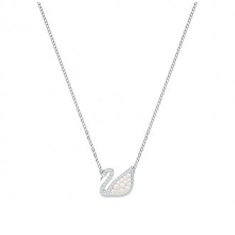 Collier Femme Swarovski Iconic Swan blanc argenté 5416605