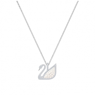 Collier Femme Swarovski Iconic Swan blanc argenté 5411791