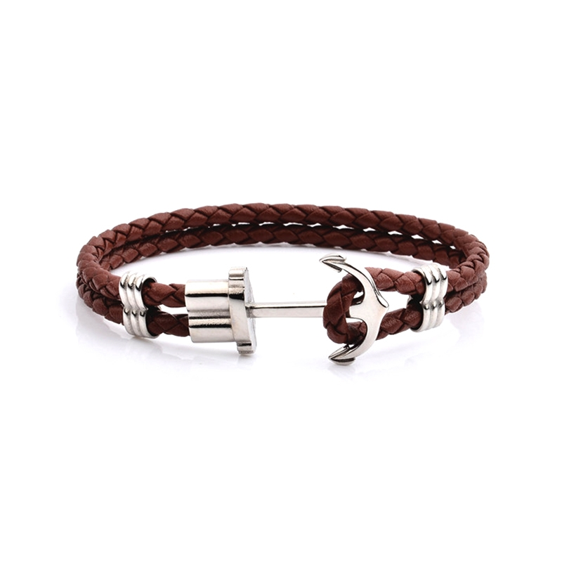 Bracelet Homme Carador Cuir Marron KMA0477
