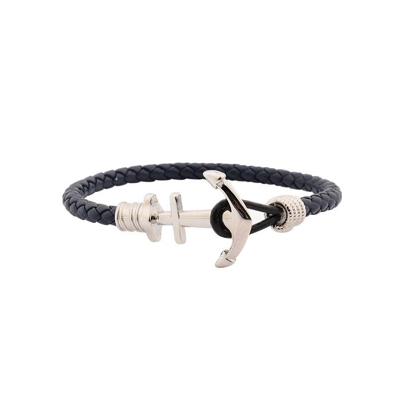 Bracelet Homme Carador Cuir bleu KMA0622