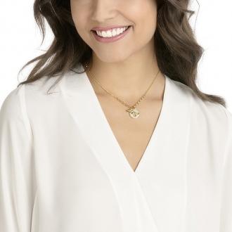 Collier Femme Swarovski Lisabel, blanc, plaqué or 5365641
